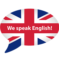 We speak english - English friendly