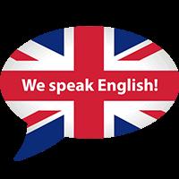 We speak english - English friendly
